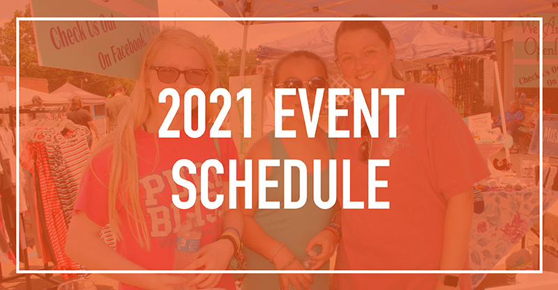 2021 Event Schedule mobile Pontotoc Chamber Pontotoc MS